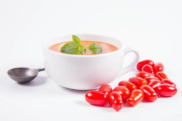 Gaspacho tomates et framboises