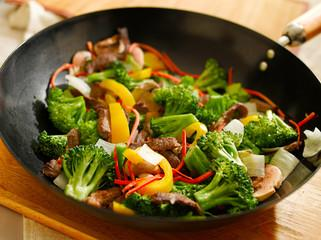 Poêlée de verdures igname et patate douce