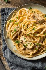Poulet spaghettis curcuma citron confit