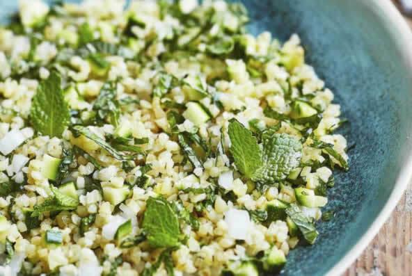 Salade d'artichaut féta boulgour