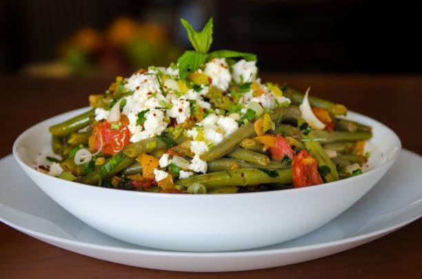 Salade de haricots verts et mozzarella balsamique