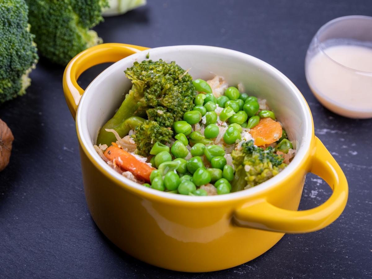 Poêlée d'artichaut et légumes verts au chèvre