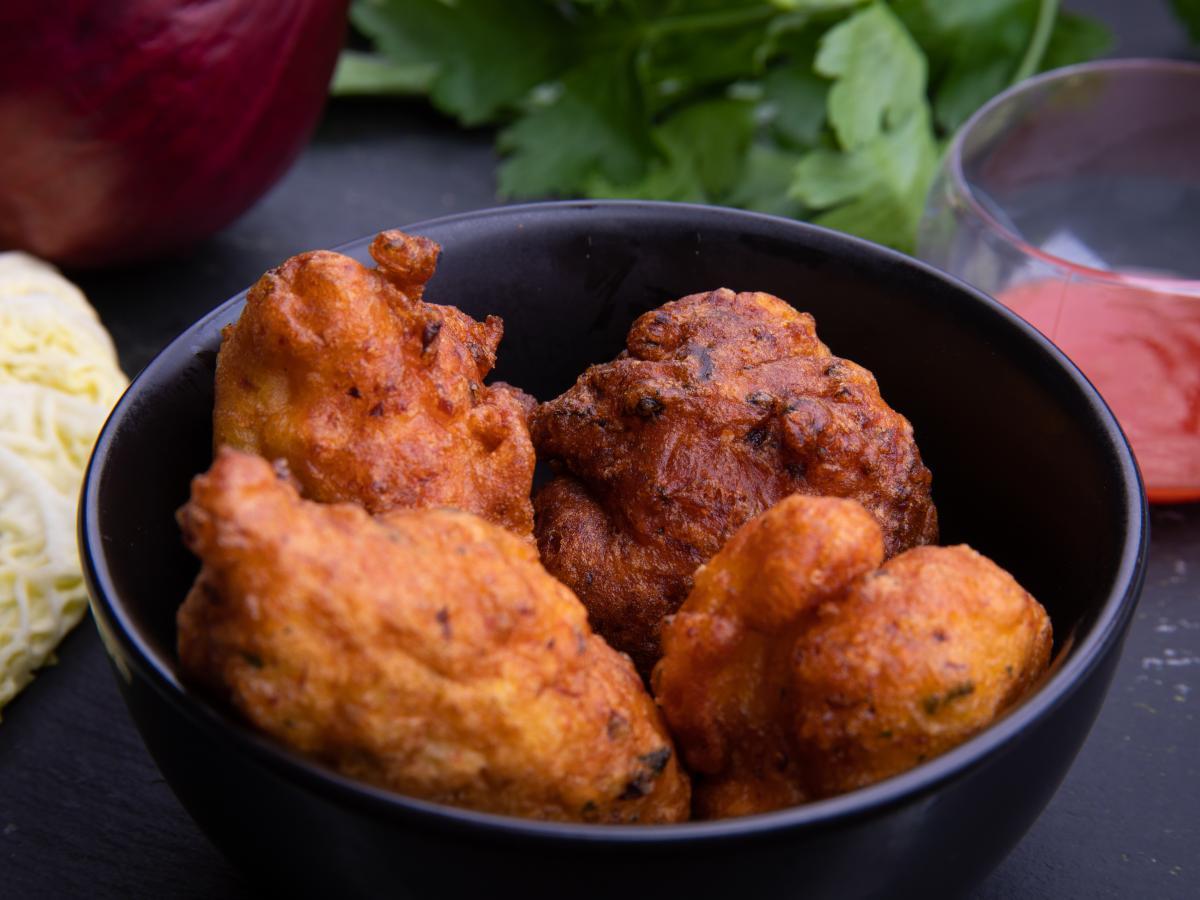 Beignets de taro au gingembre