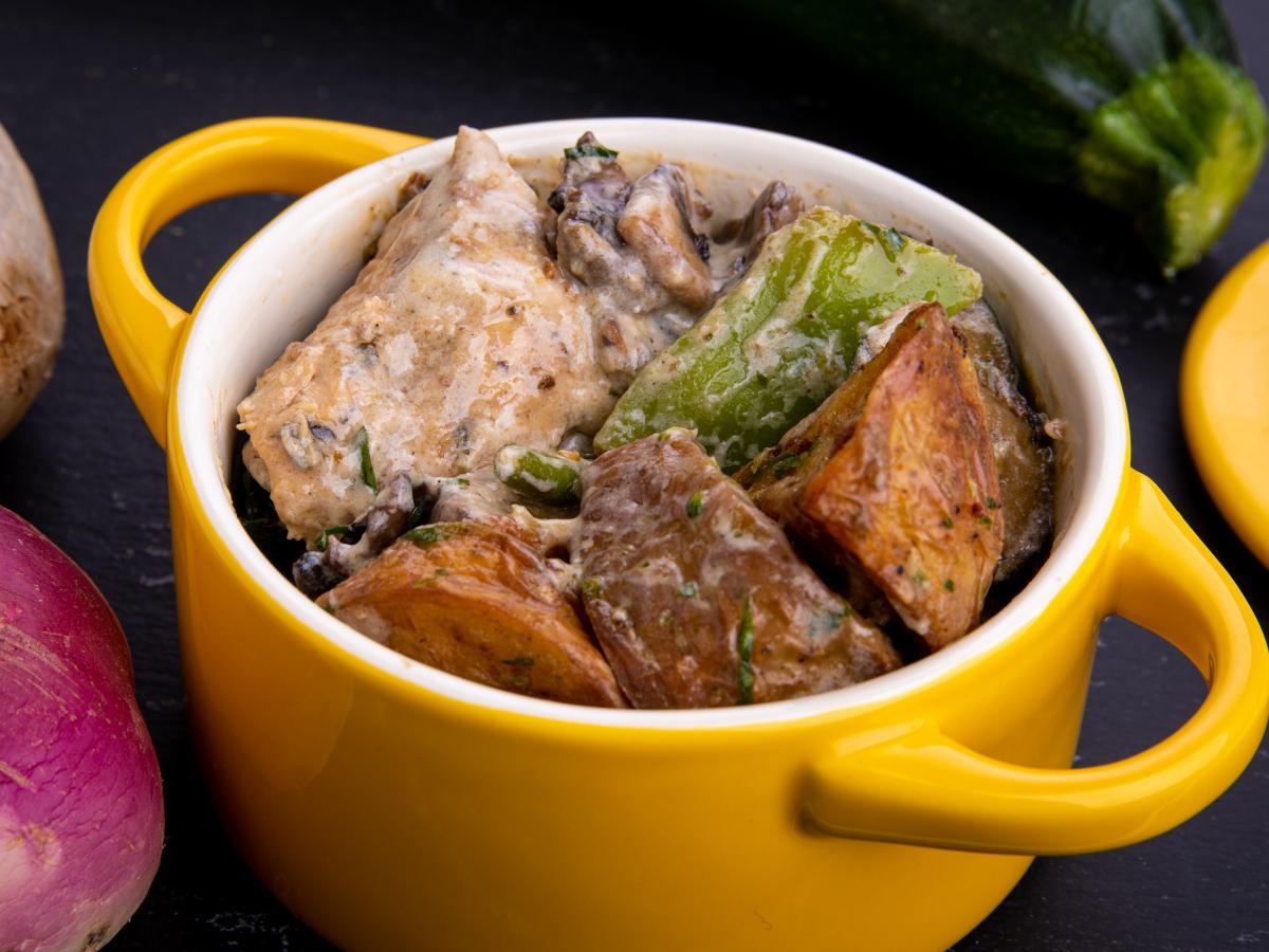 Poulet au thym et légumes verts