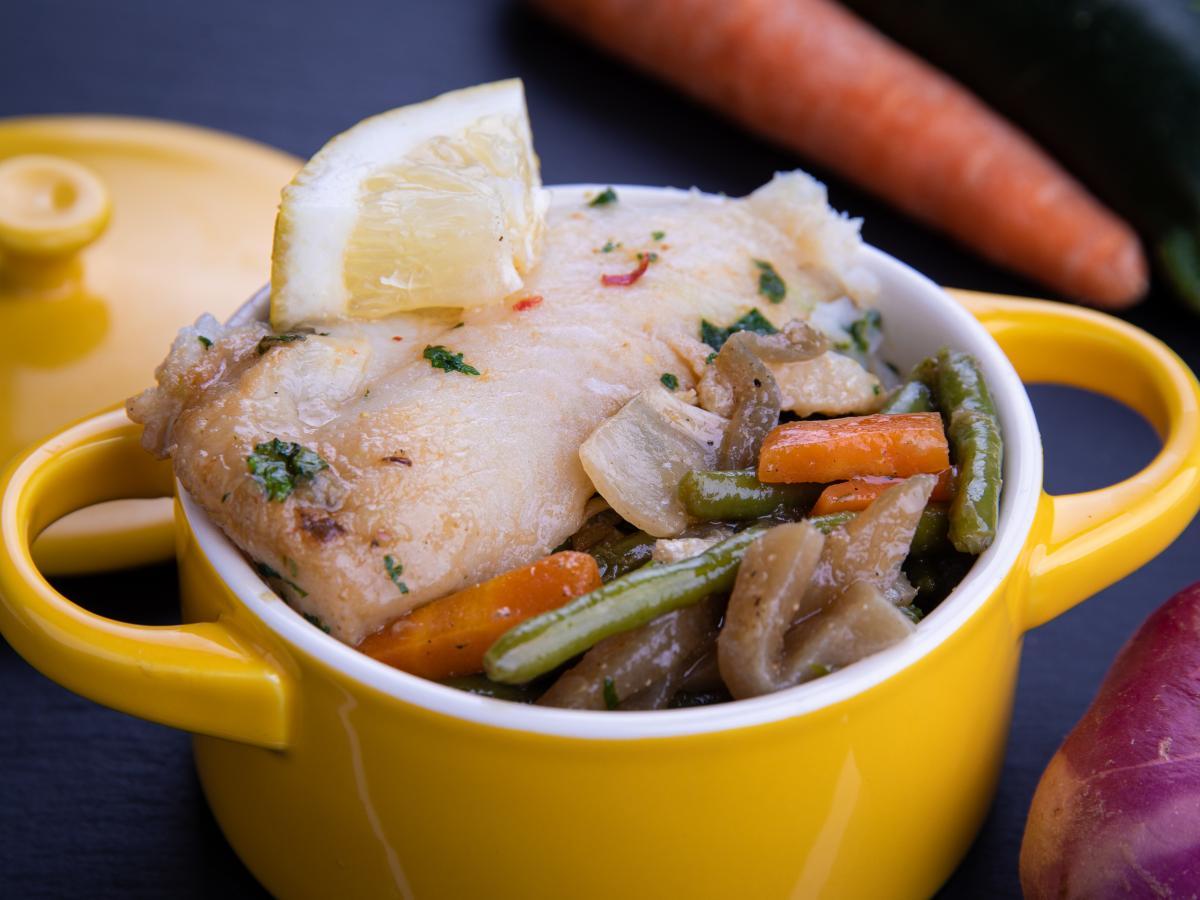Wok au poisson blanc et légumes verts