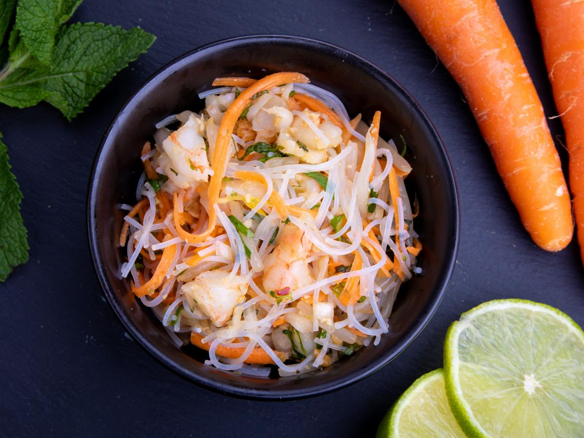 Salade de crevettes au tamarin