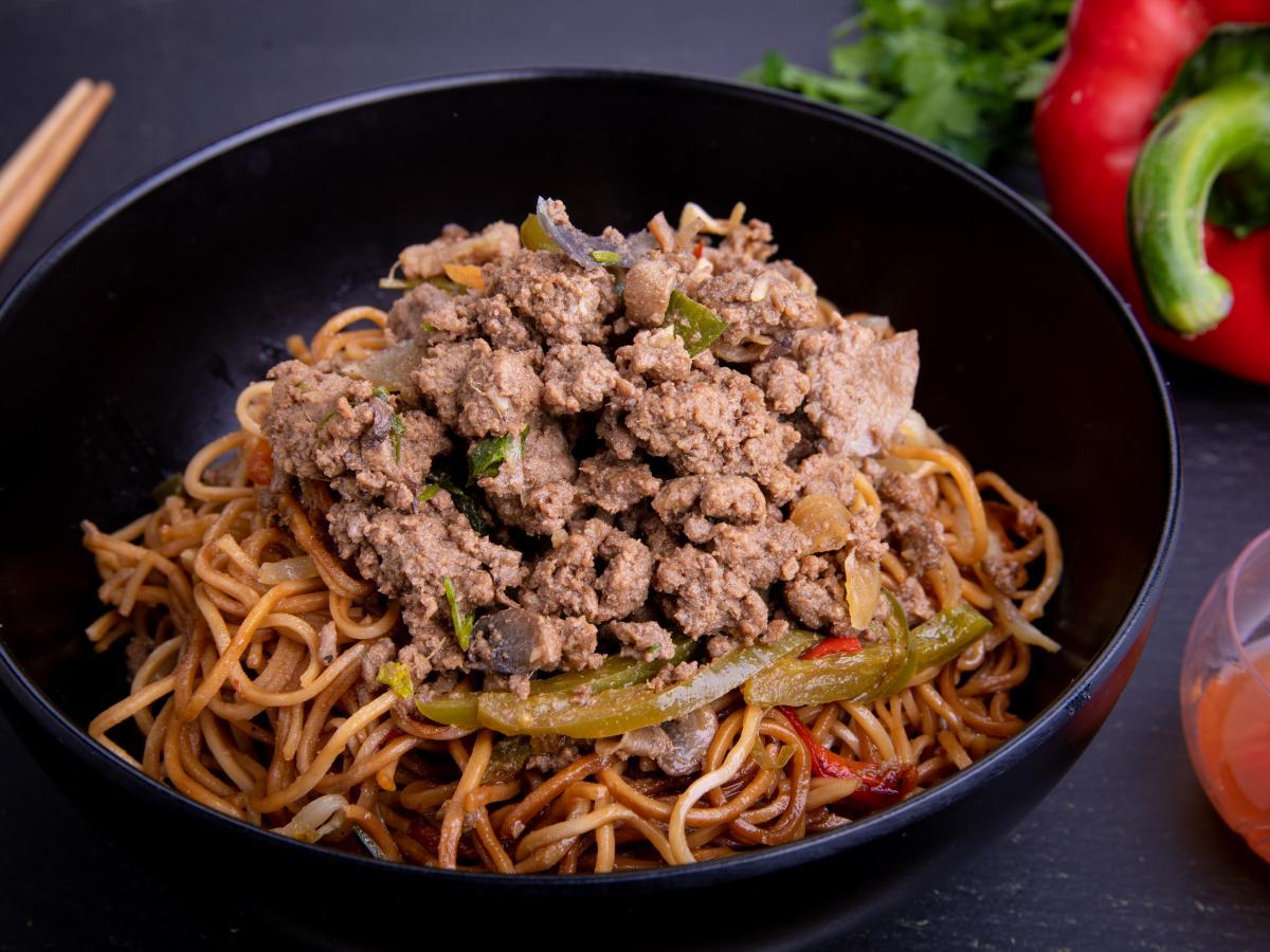 Nouilles chinoises sautées au bœuf