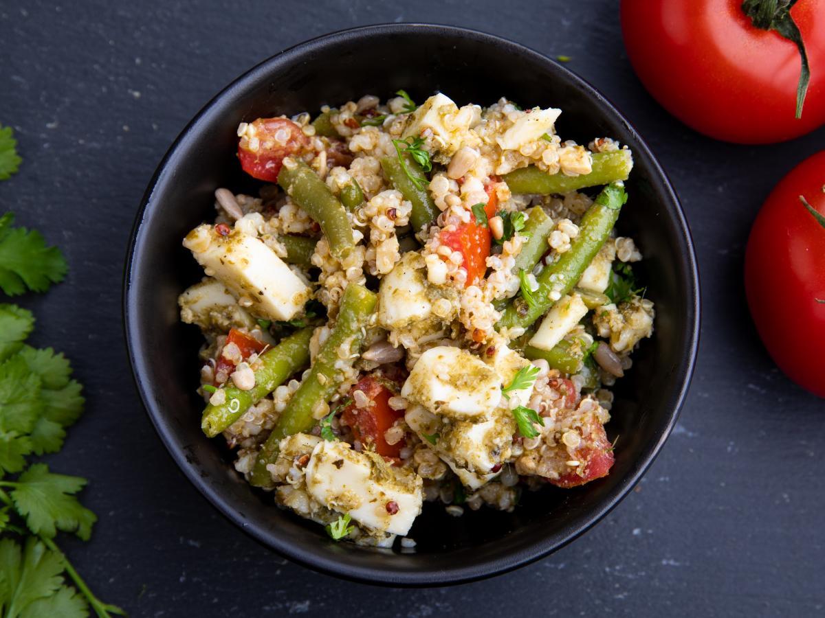 Salade de haricots verts pistou mozzarella