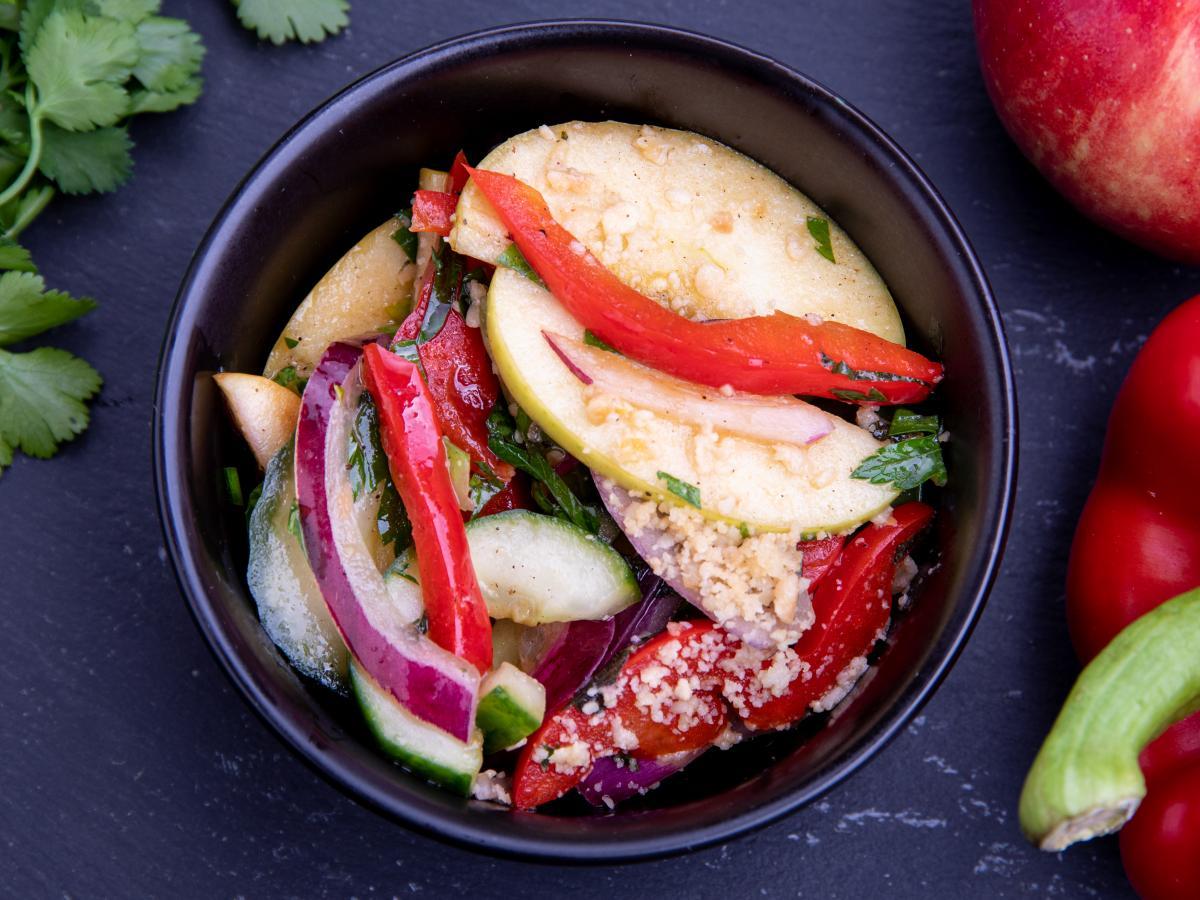 Salade fraîcheur aux noisettes