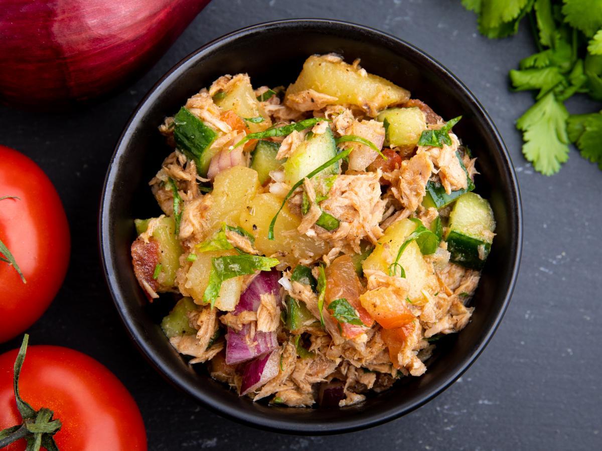 Salade de thon moutardée