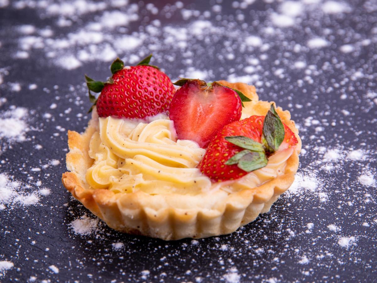 Tarte aux fraises à la cannelle