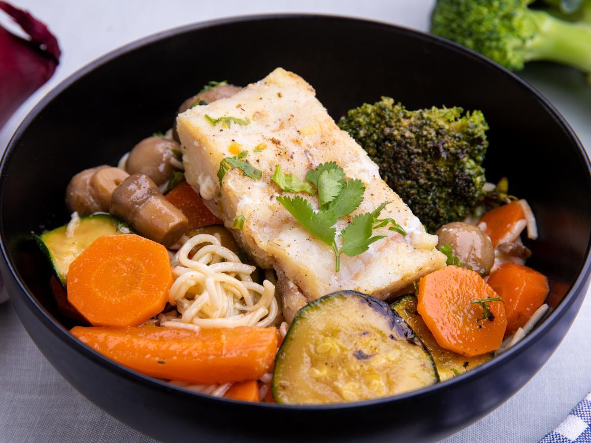 Noodle poisson gingembre