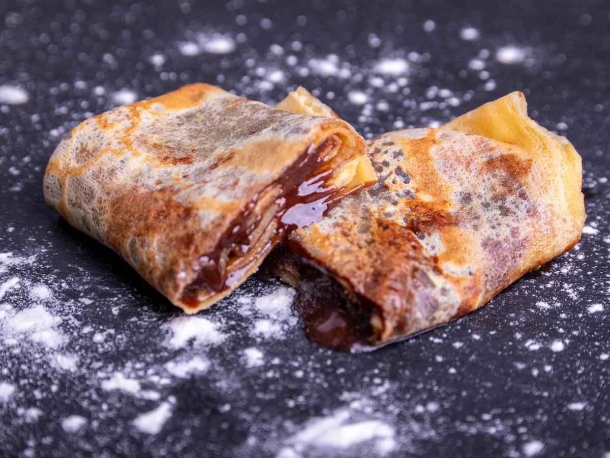 Crêpes au chocolat ganache