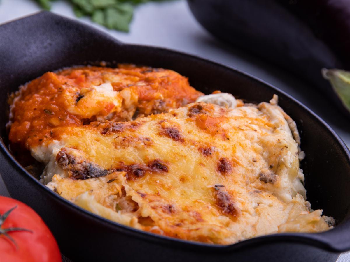 Cannellonis aubergine ricotta