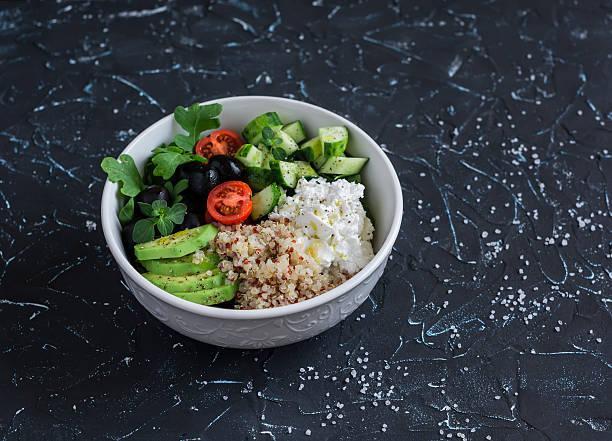 Salade de quinoa avocat féta