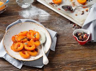 Salade d'abricot au fruit de la passion