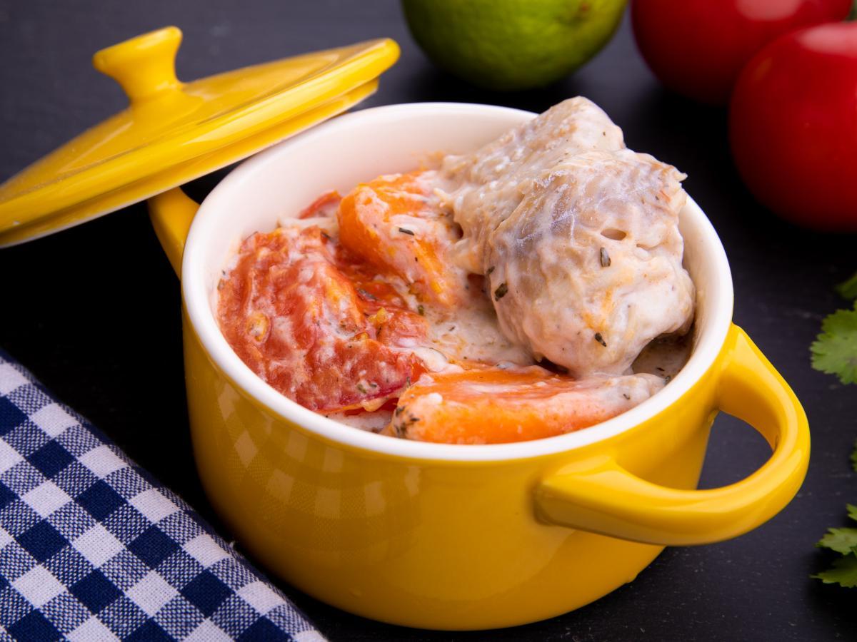 Fricassée de poisson blanc et tagliatelles au gingembre