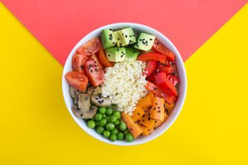 Poke bowl fruits légumes
