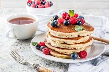Pancakes aux fruits rouge