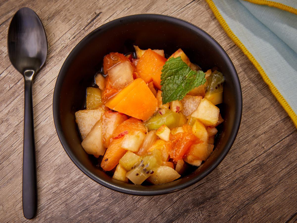 Salade de fruits au thé noir