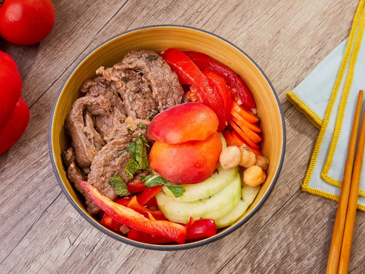 Poke bowl bœuf abricot