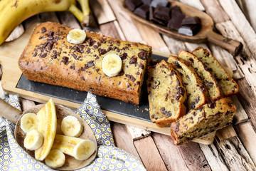 Banana chocobread
