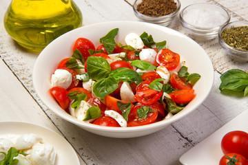 Salade de tomates mozzarella