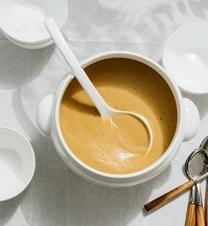 Crème péruvienne et biscuit aux poires