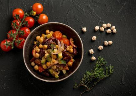 Ratatouille pois chiches et polenta